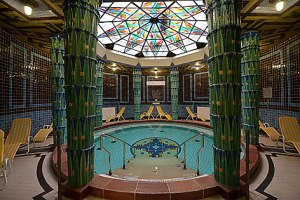 Part of the beautiful Art Deco sauna in Amalienbad